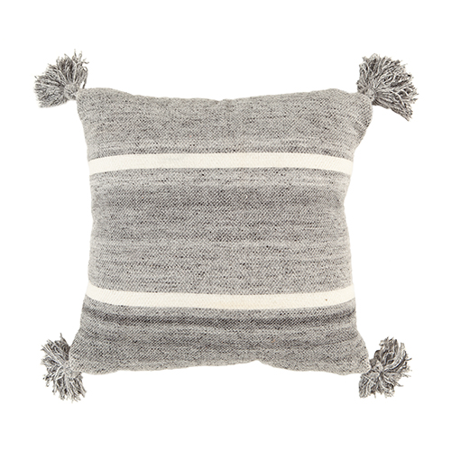 Grey/white wool cushion 50x50cm