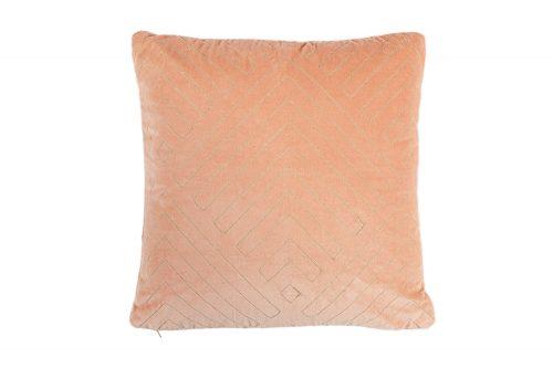 Coral velvet cushion 50x50cm gold