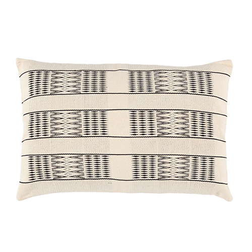 off white/ black cotton cushion 40x60cm