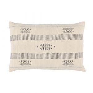 Grey/off white cotton cushion 40x60cm