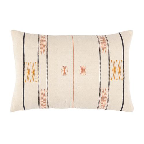 Coral cotton cushion 30x45cm
