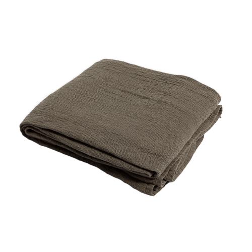 green linen waffle bedspread 270x280cm