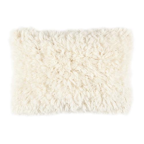 wool white cushion 40x60cm