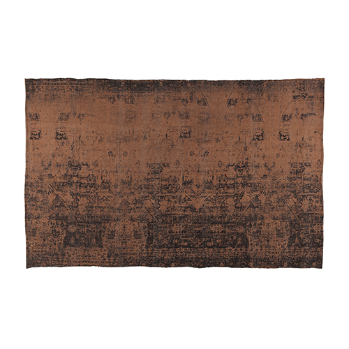 brown cotton printed rug