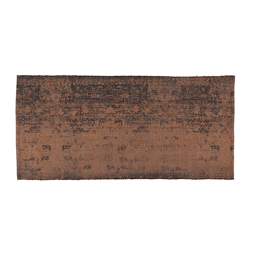 brown cotton printed rug 70x140cm