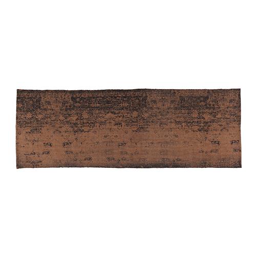 brown cotton printed runner 90x250cm