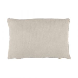 Light grey linen cushion 30x50cm
