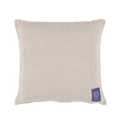light grey linen cushion
