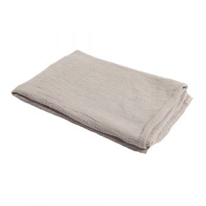 light grey linen waffle throw