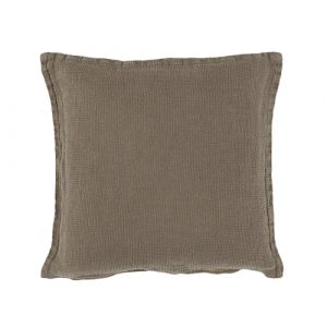 Green linen cushion 40x40cm