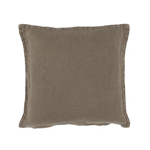 Green linen cushion 40x40cm