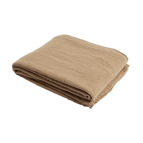 beige linen waffle bedspread 270x280cm