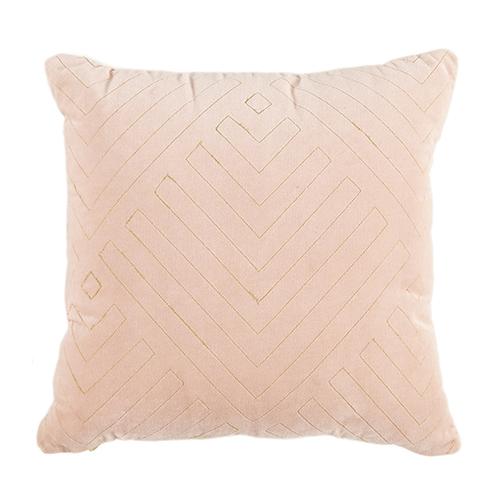 pink velvet cushion gold details