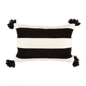 black/white stripe cushion 40x60cm