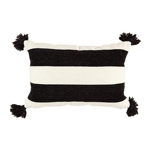 black/white stripe cushion 40x60cm
