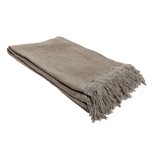 linen throw grey 130x170cm