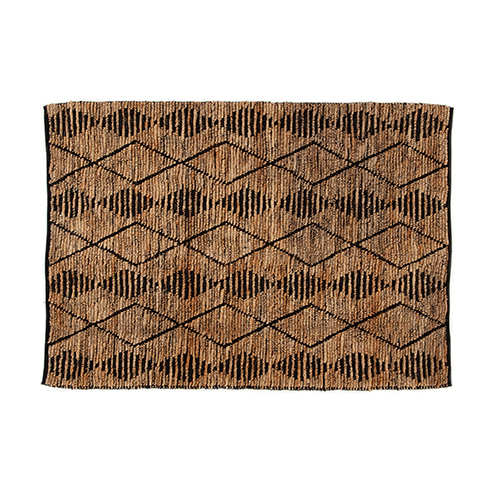 AAI rug loop naturel black jute 140x200cm