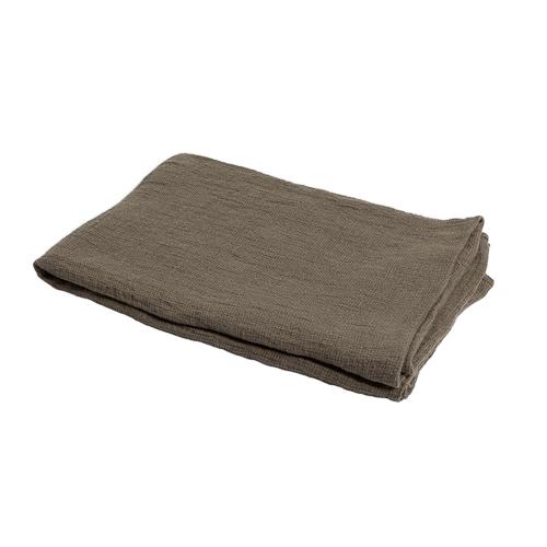 green linen throw 140x200cm