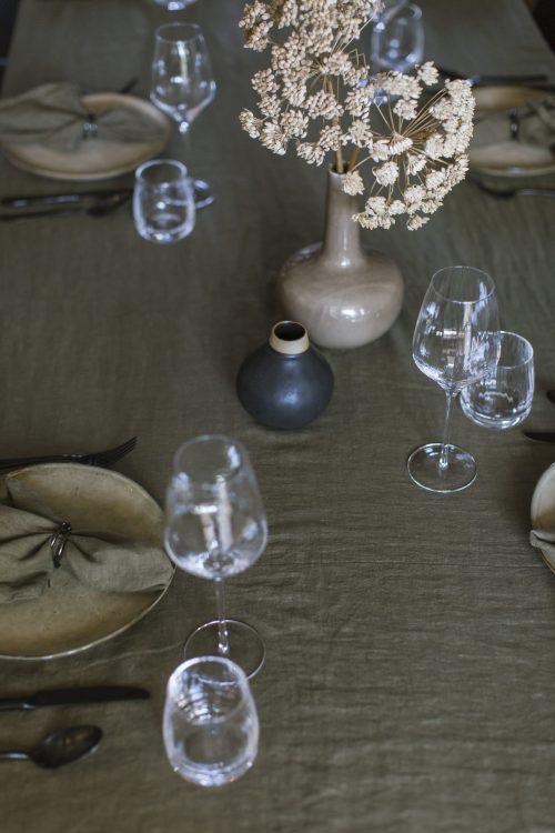green table linen